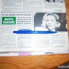 Collezionismo di Rivista Hola: RECORTE : MARTA SANCHEZ, ELEGIDA MUJER MAS DESEADA. HOLA, OCTBRE 1988 (). Lote 168546632