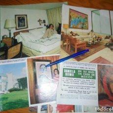 Coleccionismo de Revista Hola: RECORTE : DANIELA ROMO, EN SU NUEVA CASA DE MEXICO. HOLA, JUNIO 1985 (). Lote 168548160