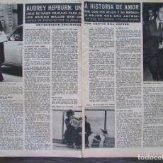 Coleccionismo de Revista Hola: RECORTE REVISTA HOLA Nº 1638 1976 AUDREY HEPBURN 3 PGS. Lote 168688204