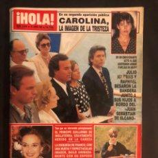 Coleccionismo de Revista Hola: ¡HOLA! N°2444 (JUNIO, 1991). JULIO IGLESIAS Y RAPHAEL, CAROLINA, PRINCIPE GUILLERMO, DUQUESA FRANCO. Lote 168756284
