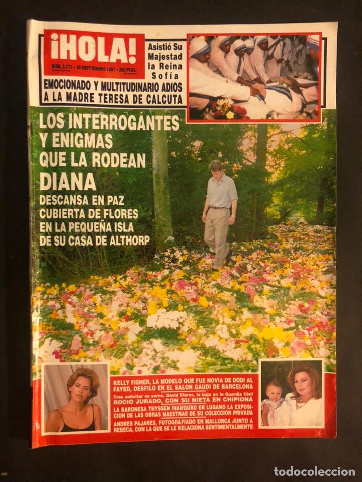 ¡HOLA! N°2772 (SEPTIEMBRE, 1997). MUERTE LADY DI, ROCIO JURADO, BARONESA THYSSEN,... (Coleccionismo - Revistas y Periódicos Modernos (a partir de 1.940) - Revista Hola)