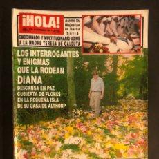 Coleccionismo de Revista Hola: ¡HOLA! N°2772 (SEPTIEMBRE, 1997). MUERTE LADY DI, ROCIO JURADO, BARONESA THYSSEN,.... Lote 168758294