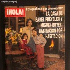 Coleccionismo de Revista Hola: ¡HOLA! N°2517 (NOVIEMBRE, 1992). CASA DE ISABEL PREYSLER Y MIGUEL BOYER, ALAIN DELON, MIA FARROW,.... Lote 168759496