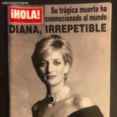 Coleccionismo de Revista Hola: ¡HOLA! N°2770 (SEPTIEMBRE, 1997). MUERTE DE DIANA. Lote 168759880