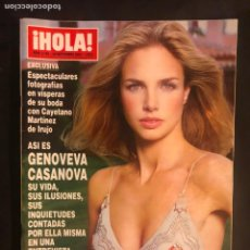 Coleccionismo de Revista Hola: ¡HOLA! N°3190 (SEPTIEMBRE, 2005). GENOVEVA CASANOVA, FRAN RIVERA, CAYETANA. Lote 168760686