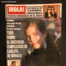 Coleccionismo de Revista Hola: ¡HOLA! N°3132 (AGOSTO, 2004). CARLOTA DE MÓNACO, CAMEN ORDÓÑEZ, FRAN RIVERA, ESTEFANÍA DE MÓNACO. Lote 168760728