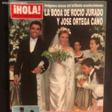 Coleccionismo de Revista Hola: ¡HOLA! N°2638 (MARZO, 1995). BODA DE ROCÍO JURADO Y ORTEGA CANO, CHABELI, FRAN RIVERA Y EUGENIA,.... Lote 168760813