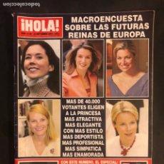 Coleccionismo de Revista Hola: ¡HOLA! N°3138 (SEPTIEMBRE, 2004). BODA ANE IGARTIBURU E IGOR YEBRA, PENÉLOPE CRUZ, REINAS EUROPEAS. Lote 168760912
