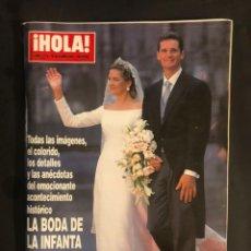 Coleccionismo de Revista Hola: ¡HOLA! N°2867 (JULIO, 1999). BODA DE LA PRINCESA ALEXIA DE GRECIA Y CARLOS MORALES,.... Lote 168761086