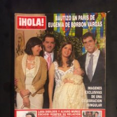 Coleccionismo de Revista Hola: ¡HOLA! N°3280 (JUNIO, 2007). BAUTIZO NIETA CARMEN MARTÍNEZ BORDIÚ, EUGENIA MARTÍNEZ DE IRUJO. Lote 168761128