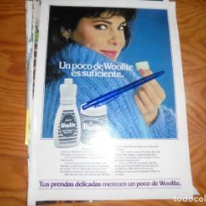 Coleccionismo de Revista Hola: RECORTE : ANA OBREGON, PUBLICIDAD SUAVIZANTE WOOLITE . HOLA, JUNIO 1983 (). Lote 169024600