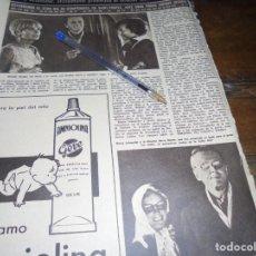 Coleccionismo de Revista Hola: RECORTE : ROMY SCHNEIDER, PROMETIDA AL DIRECTOR HARRY MEYEN. HOLA, JULIO 1965 (). Lote 169040972