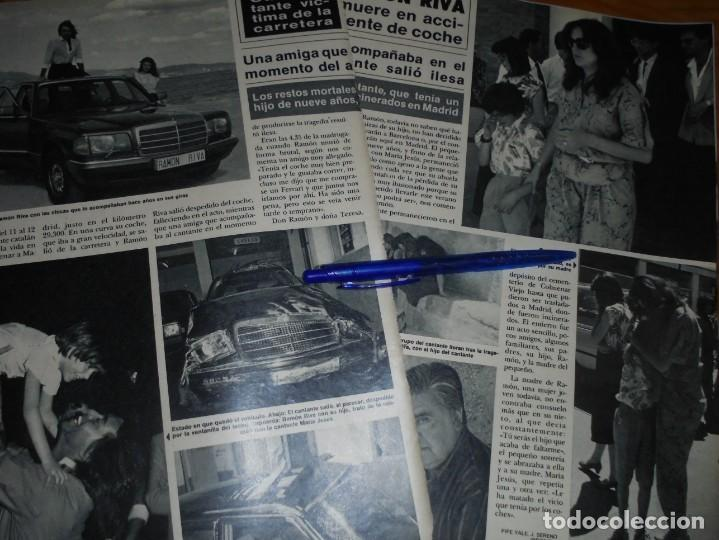 RECORTE : RAMON RIVA MUERE EN ACCIDENTE DE COCHE. HOLA, JUNIO 1986 () (Coleccionismo - Revistas y Periódicos Modernos (a partir de 1.940) - Revista Hola)