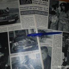 Collectionnisme de Magazine Hola: RECORTE : RAMON RIVA MUERE EN ACCIDENTE DE COCHE. HOLA, JUNIO 1986 (). Lote 169106064