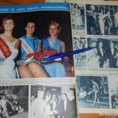 Coleccionismo de Revista Hola: RECORTE : ELECCION DE MISS TURISTA INTERNACIONAL . HOLA, FBRO 1965 (). Lote 169106336