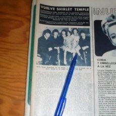 Coleccionismo de Revista Hola: RECORTE : SHIRLEY TEMPLE Y LOS BEATLES. HOLA, FBRO 1965 (). Lote 169106700