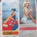 Coleccionismo de Revista Hola: RECORTE REVISTA HOLA Nº 1129 1966 MILENE DEMONGEOT. Lote 169120188
