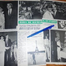 Coleccionismo de Revista Hola: RECORTE : BODA DE RICHARD CLYDERMAN. HOLA, JULIO 1980 (). Lote 169278296