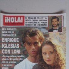 Coleccionismo de Revista Hola: HOLA. 21 SEPTIEMBRE 1995. NUM. 2667. ENRIQUE IGLESIAS, R. JURADO. VER SUMARIO EN FOTOS. Lote 169305412