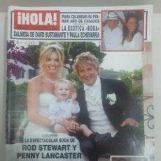 Coleccionismo de Revista Hola: 21880 - REVISTA HOLA - Nº 3287 - EN PORTADA ROB STEWART Y PENNY LANCASTER . Lote 169383324