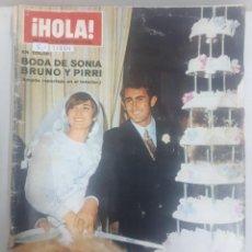 Coleccionismo de Revista Hola: 21884 - REVISTA HOLA - Nº 1295 - EN PORTADA BODA DE SONIA BRUNO Y PIRRI . Lote 169383796