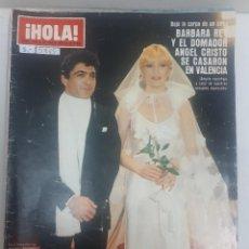 Coleccionismo de Revista Hola: 21885 - REVISTA HOLA - Nº 1848 - EN PORTADA BARBARA REY Y ANGEL CRISTO . Lote 169383872