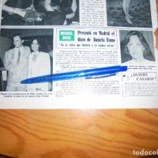 Coleccionismo de Revista Hola: RECORTE : MIGUEL BOSÉ PRESENTA EL DISCO DE DANIELA ROMO. HOLA, OCTBRE 1983 (). Lote 169402644