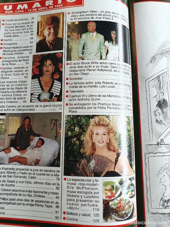 Coleccionismo de Revista Hola: HOLA. 13 ABRIL 1995. NUM. 2644. CAROLINA DE MONACO, RAFI CAMINO, VER SUMARIO EN FOTOS - Foto 4 - 169429512