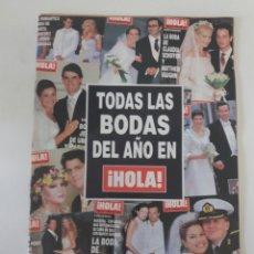Coleccionismo de Revista Hola: REVISTA HOLA SUPLEMENTO TODAS LAS BODAS DEL AÑO 2002. Lote 169600644