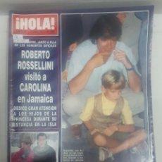Collectionnisme de Magazine Hola: 21975 - REVISTA HOLA - Nº 2423 - EN PORTADA ROBERTO ROSELLINI . Lote 169618784
