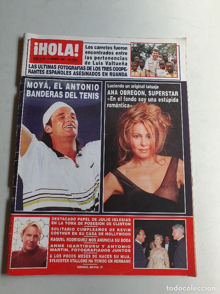 HOLA. 6 FEBRERO 1997. NUM. 2739. CARLOS MOYA, ANA OBREGON, BANDERAS. VER SUMARIO EN FOTOS (Coleccionismo - Revistas y Periódicos Modernos (a partir de 1.940) - Revista Hola)