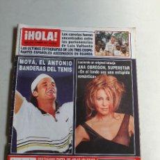Coleccionismo de Revista Hola: HOLA. 6 FEBRERO 1997. NUM. 2739. CARLOS MOYA, ANA OBREGON, BANDERAS. VER SUMARIO EN FOTOS. Lote 169675520