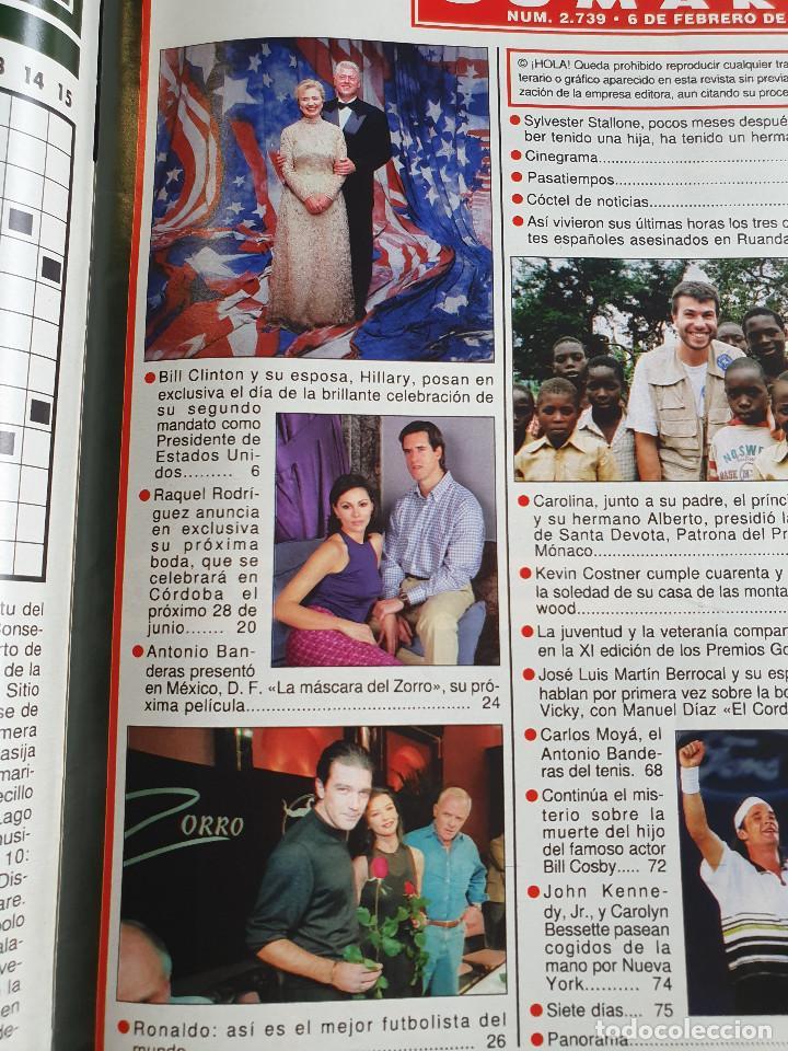 Coleccionismo de Revista Hola: HOLA. 6 FEBRERO 1997. NUM. 2739. CARLOS MOYA, ANA OBREGON, BANDERAS. VER SUMARIO EN FOTOS - Foto 2 - 169675520