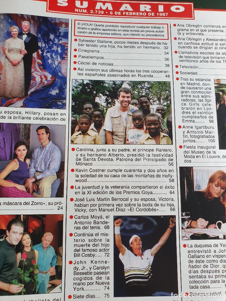 Coleccionismo de Revista Hola: HOLA. 6 FEBRERO 1997. NUM. 2739. CARLOS MOYA, ANA OBREGON, BANDERAS. VER SUMARIO EN FOTOS - Foto 3 - 169675520