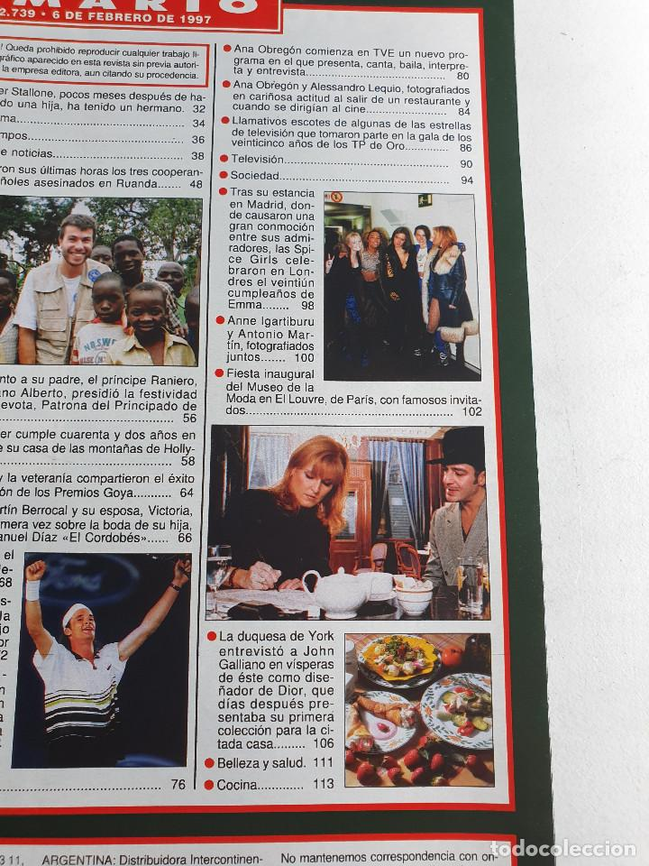 Coleccionismo de Revista Hola: HOLA. 6 FEBRERO 1997. NUM. 2739. CARLOS MOYA, ANA OBREGON, BANDERAS. VER SUMARIO EN FOTOS - Foto 4 - 169675520