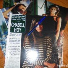 Coleccionismo de Revista Hola: RECORTE : CHABELI IGLESIAS, HOY. HOLA, ABRIL 1987 (). Lote 169808960