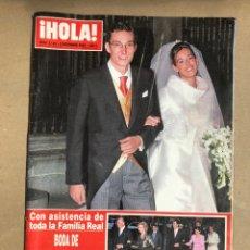 Coleccionismo de Revista Hola: HOLA! N° 3149 (DICIEMBRE 2004). BODA DE FERNANDO GOMEZ ACEBO Y MÓNICA MARTÍN LUQUE.. Lote 169962018