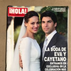 Coleccionismo de Revista Hola: ¡HOLA! N° 3720 (NOVIEMBRE 2015). BODA CAYETANO RIVERA Y EVA GONZÁLEZ, MALENA COSTA,.... Lote 170069050