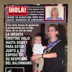 Coleccionismo de Revista Hola: ¡HOLA! N° 2929 (SEPTIEMBRE 2000). ISABEL PANTOJA CHABELITA, JESULIN Y VICKY, FROILÁN,.... Lote 170069609