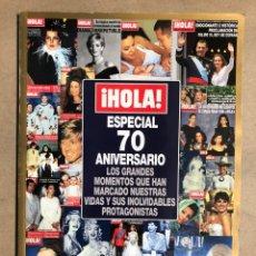 Coleccionismo de Revista Hola: ¡HOLA! NÚMERO ESPECIAL 70 ANIVERSARIO.. Lote 178887621