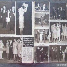 Coleccionismo de Revista Hola: RECORTE REVISTA HOLA Nº 894 1961 ITALIA 61. LUCIA BOSE. LUIS MIGUEL DOMINGUIN, LUDMILLA TEHERINA. Lote 170282832