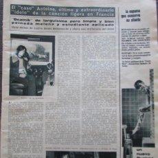 Coleccionismo de Revista Hola: RECORTE REVISTA HOLA Nº 1132 1966 CANTANTE FRANCÉS ANTOINE. BEATNIK. . Lote 170284500