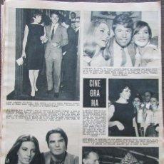Coleccionismo de Revista Hola: RECORTE REVISTA HOLA Nº 1132 1966 SARA MONTIEL, ANITA EKBERG, RAPHAEL, . Lote 170284856