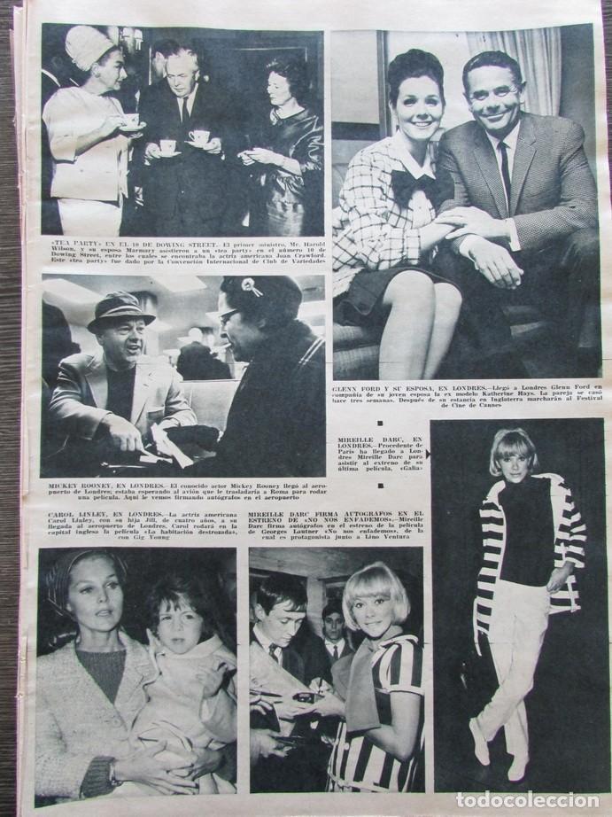 RECORTE REVISTA HOLA Nº 1132 1966 CAROL LINLEY, MIREILLE DARC. GLENN FORD... (Coleccionismo - Revistas y Periódicos Modernos (a partir de 1.940) - Revista Hola)