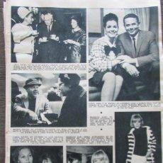 Coleccionismo de Revista Hola: RECORTE REVISTA HOLA Nº 1132 1966 CAROL LINLEY, MIREILLE DARC. GLENN FORD.... Lote 170286000