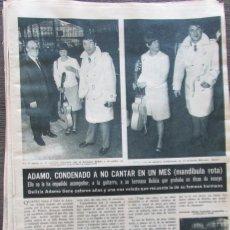 Coleccionismo de Revista Hola: RECORTE REVISTA HOLA Nº 1132 1966 ADAMO, CERVEZA SAN MIGUEL. Lote 170286060