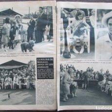 Coleccionismo de Revista Hola: RECORTE REVISTA HOLA Nº 1132 1966 CAROLINA DE MONACO. Lote 170286160
