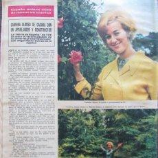 Coleccionismo de Revista Hola: RECORTE REVISTA HOLA Nº 1132 1966 CARMINA ALONSO. Lote 170286272