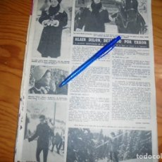 Coleccionismo de Revista Hola: RECORTE : ALAIN DELON, DETENIDO POR ERROR. HOLA, FBRRO 1963 (). Lote 170362032