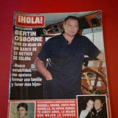 Coleccionismo de Revista Hola: REVISTA HOLA NÚMERO 2955 AÑO 2001 BERTIN OSBORNE. Lote 170865955